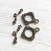 Материалы для творчества handmade. Livemaster - original item Locking clasp to jewelry toggle in bronze (art. 2247). Handmade.