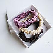 Украшения handmade. Livemaster - original item 100% natural silk hair bands with manual coloring. Handmade.