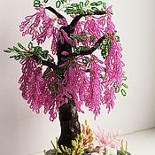 Деревья ручной работы. Ярмарка Мастеров - ручная работа Глициния из бисера. Handmade.