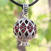 Украшения handmade. Livemaster - original item Garnet pendant with zircons made of 925 GA0050 silver. Handmade.