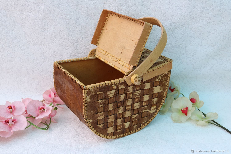 Короб для пикника. Короб из бересты