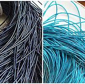 Канитель ручной работы. Ярмарка Мастеров - ручная работа Канитель гладкая, мягкая, 1 мм, синий, голубой. Handmade.