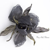Brooches handmade. Livemaster - original item Iris silk
