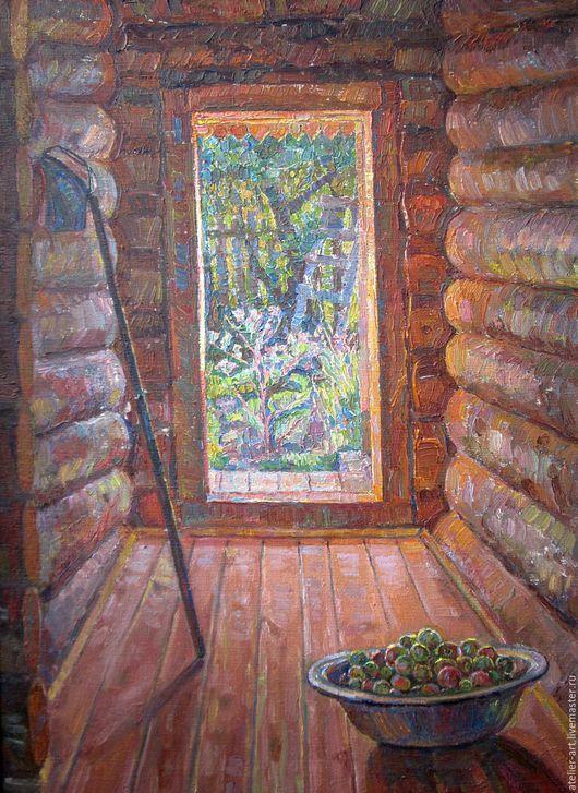 `В сенях` - живописная картина с натуры; холст; масло