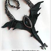 """Украшения ручной работы. Ярмарка Мастеров - ручная работа Колье """"Чёрный дракон"""". Handmade."""