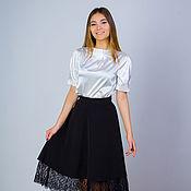 Одежда handmade. Livemaster - original item Skirt with French lace, elegant skirt, MIDI skirt. Handmade.