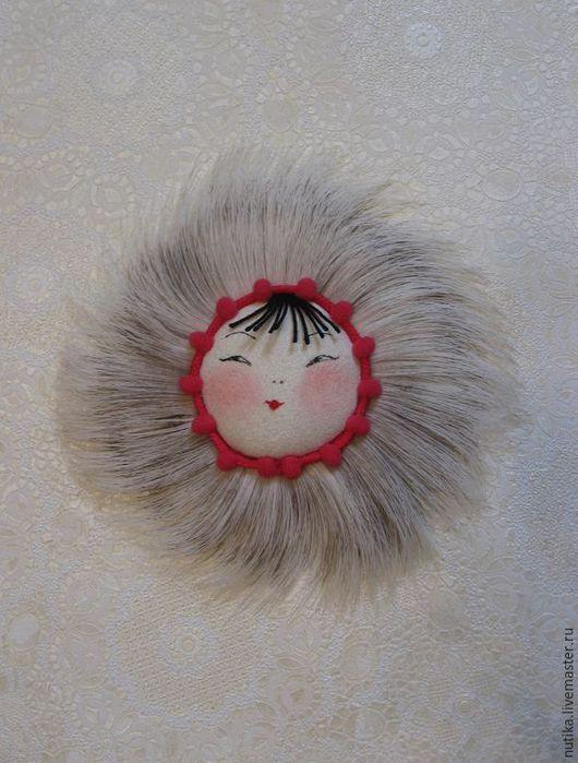 Магниты ручной работы. Ярмарка Мастеров - ручная работа. Купить Северное солнце, магнит мех оленя. Handmade. Мех оленя