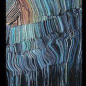 """Картины и панно ручной работы. Ярмарка Мастеров - ручная работа Гобелен """"Гравитационная сингулярность"""". Handmade."""
