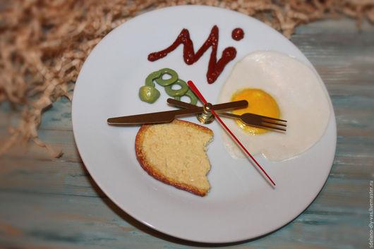 """Часы для дома ручной работы. Ярмарка Мастеров - ручная работа. Купить Часы настенные """"Завтрак"""". Handmade. Часы"""