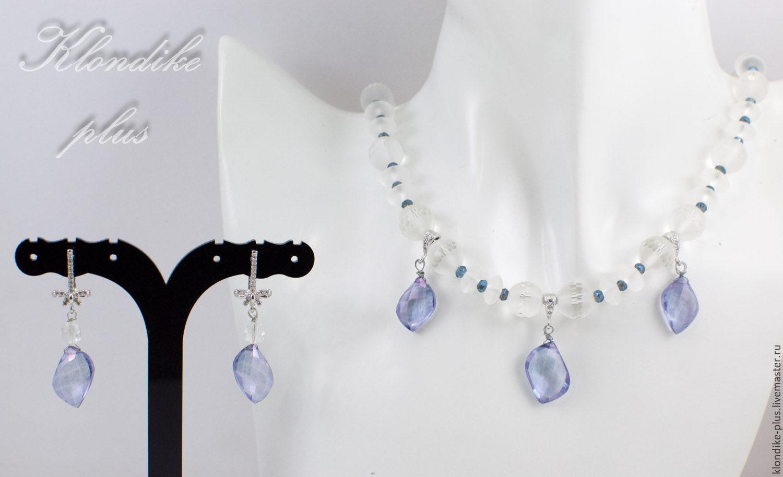 'Krustalinka ' jewelry made of rock crystal and quartz, Jewelry Sets, Bratsk,  Фото №1
