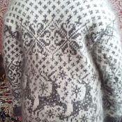Одежда ручной работы. Ярмарка Мастеров - ручная работа пальто из козьего пуха Оленья сказка. Handmade.