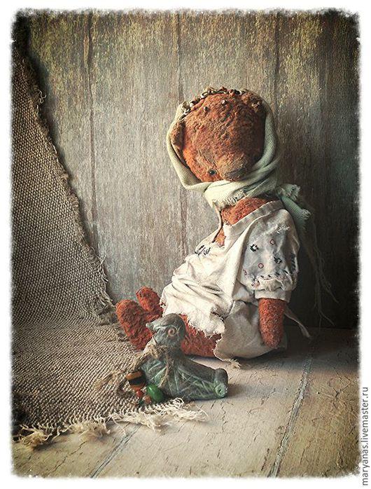 """Мишки Тедди ручной работы. Ярмарка Мастеров - ручная работа. Купить """"Лети-плыви, моя уточка..."""" мишка тедди. Handmade."""