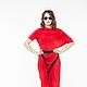 АГ_022 Блузон ассиметричный красный, 100% холодная вискоза, трикотаж. АГ_023 Юбка красная длинная узкая с запАхом, 100% холодная вискоза, трикотаж http://www.livemaster.ru/item/10479257-odezhda-ag-02