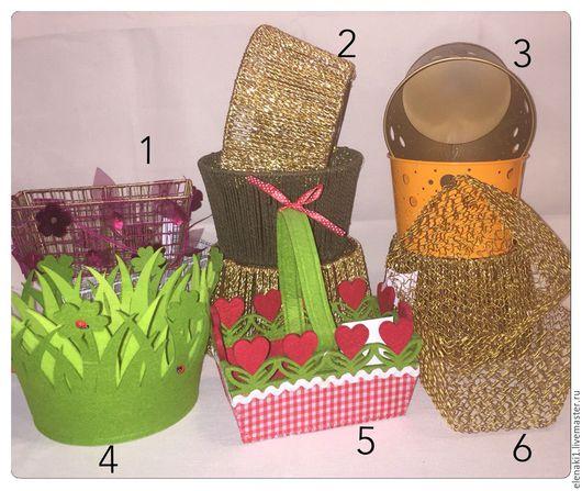 Другие виды рукоделия ручной работы. Ярмарка Мастеров - ручная работа. Купить Корзинки подарочные (7 видов). Handmade.