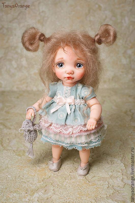Коллекционные куклы ручной работы. Ярмарка Мастеров - ручная работа. Купить малышка Юленька 17см. Handmade. Малышка, девочка
