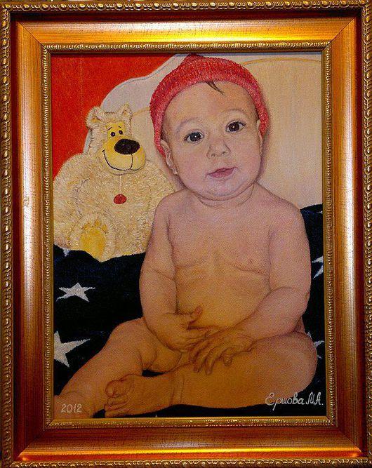 Люди, ручной работы. Ярмарка Мастеров - ручная работа. Купить Детский портрет. Малявочка. Холст, масло.. Handmade. Живопись