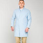 Одежда ручной работы. Ярмарка Мастеров - ручная работа Плащ Мужской Тренч Голубой Light Blue Raincoat. Handmade.