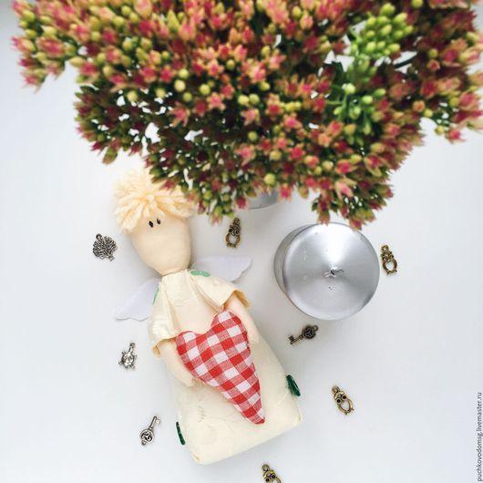"""Коллекционные куклы ручной работы. Ярмарка Мастеров - ручная работа. Купить Ангелок """"Marry Christmas"""". Handmade. Белый, ангелочек"""