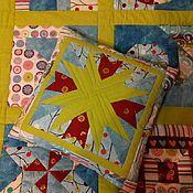 """Для дома и интерьера ручной работы. Ярмарка Мастеров - ручная работа Лоскутная подушка """"Полосатая звезда"""". Handmade."""