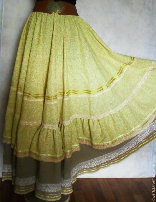 юбка-бохо,бохо-стиль,длинная юбка,юбка в пол,светло-желтая юбка,из хлопка,красивая юбка,модная юбка,для отдыха,летняя юбка,легкая юбочка,подарок,натуральные материалы,пышная юбка
