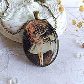 Pendants handmade. Livemaster - original item Large Oval Pendant