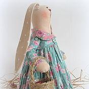 Куклы и игрушки ручной работы. Ярмарка Мастеров - ручная работа Зайка тильда девочка. Handmade.