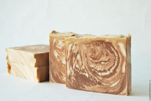 """Мыло ручной работы. Ярмарка Мастеров - ручная работа. Купить """"Горячий шоколад"""" натуральное мыло с нуля. Handmade. Бежевый"""