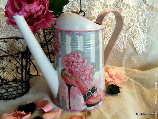 Лейки ручной работы. Ярмарка Мастеров - ручная работа. Купить Лейка Розовый вихрь. Handmade. Лейка, туфельки, серебряный