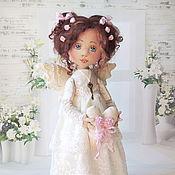 Куклы и игрушки ручной работы. Ярмарка Мастеров - ручная работа Винтажный ангелок (повтор). Handmade.
