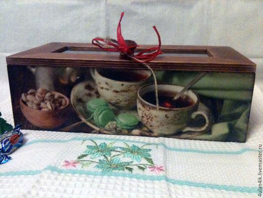 """Корзины, коробы ручной работы. Ярмарка Мастеров - ручная работа. Купить Чайный короб """"Фисташковый чай"""". Handmade. Салатовый, чай"""