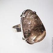 Rings handmade. Livemaster - original item Ring with quartz-hair stone