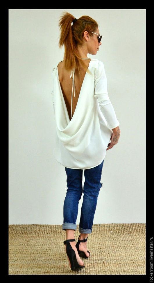 женская туника, туника с открытой спиной, красивая одежда, одежда на заказ, дизайнерская одежда, модная туника, топ, женский топ, блуза, нарядная блуза