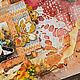 """Абстракция ручной работы. Холст """"Осенний день"""". Кристина Пешко. Интернет-магазин Ярмарка Мастеров. Холст, рамка для фотографии"""