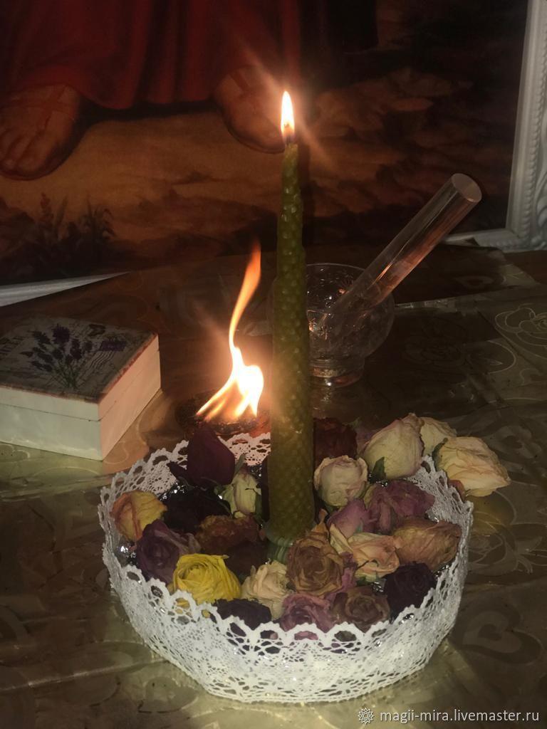 Конусная Двухфетильная, Заговорная свеча, Москва,  Фото №1