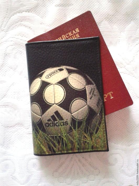 Обложки ручной работы. Ярмарка Мастеров - ручная работа. Купить 5! Обложка на паспорт Футбол.Обложка для паспорта.Подарок мужчине. Handmade.