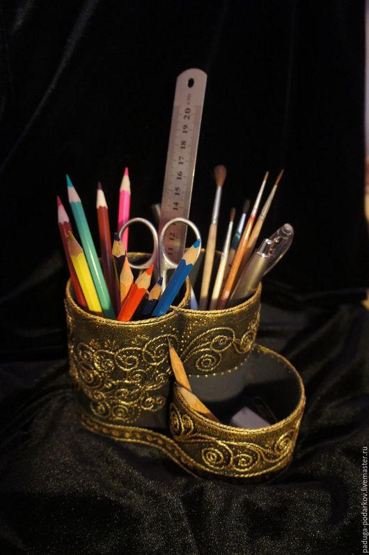 Карандашницы ручной работы. Ярмарка Мастеров - ручная работа. Купить Карандашница из  плотного картона. Рисунок Вдохновение.. Handmade. Карандашница
