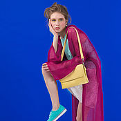 Одежда ручной работы. Ярмарка Мастеров - ручная работа Кардиган-трансформер фуксия. Handmade.