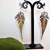 Украшения handmade. Livemaster - original item Earrings with Real Leaves Epoxy Botanica Eco Jewelry. Handmade.