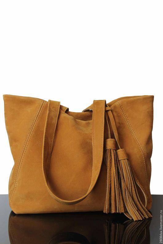 Женские сумки ручной работы. Ярмарка Мастеров - ручная работа. Купить Сумка замшевая, горчичный, сумка, женская сумка на осень. Handmade.