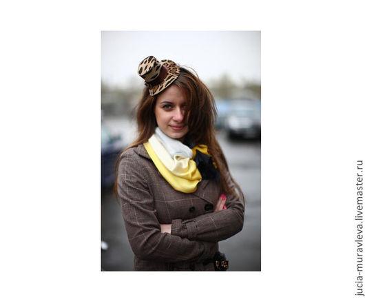 Шляпы ручной работы. Ярмарка Мастеров - ручная работа. Купить шляпка цилиндр на ободке. Handmade. Шляпка, шляпка для девочки