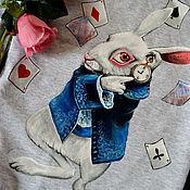 Пуловеры ручной работы. Ярмарка Мастеров - ручная работа Толстовка пуловер свитшот с ручной росписью. Handmade.