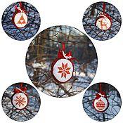 """Подарки к праздникам ручной работы. Ярмарка Мастеров - ручная работа Елочные шары """"Новогодние мотивы"""". Handmade."""