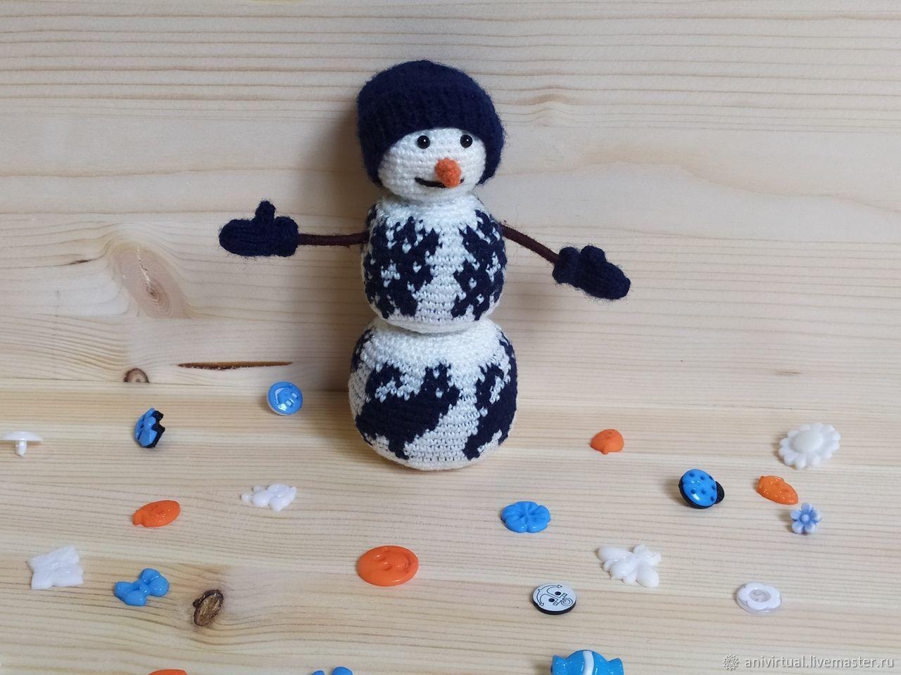 Снеговик, Мягкие игрушки, Челябинск,  Фото №1