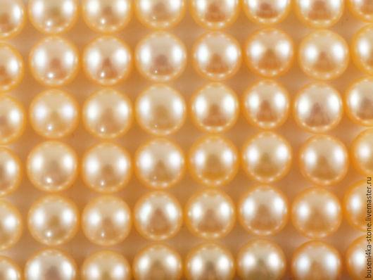 Для украшений ручной работы. Ярмарка Мастеров - ручная работа. Купить Жемчуг полусверленный золот. 7-7,5мм (пара). Handmade.