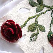 """Аксессуары ручной работы. Ярмарка Мастеров - ручная работа Шарф """"Розы зимой"""". Handmade."""