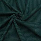 Ткани ручной работы. Ярмарка Мастеров - ручная работа Ткань натуральная трикотаж рибана т.зеленая. Handmade.