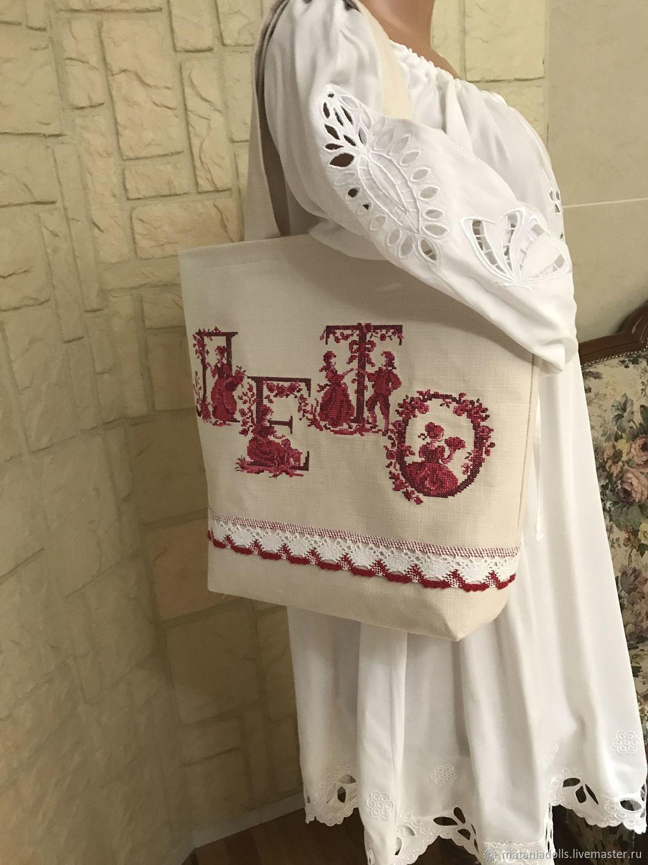 Bag of matting 'Summer in France', Classic Bag, Liepaja,  Фото №1