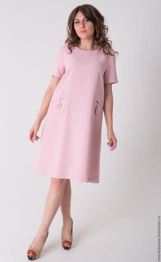 Платья ручной работы. Ярмарка Мастеров - ручная работа. Купить Платье П-41. Handmade. Бледно-розовый, Розовое платье