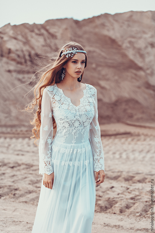 Свадебное платье с вышивкой ручной работы: самые