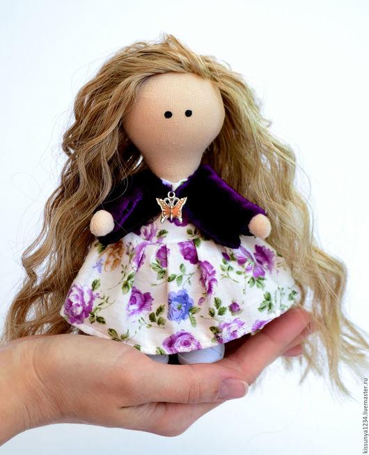 Куклы Тильды ручной работы. Ярмарка Мастеров - ручная работа. Купить Текстильная кукла, кукла тильда. Handmade. Фиолетовый, подарок